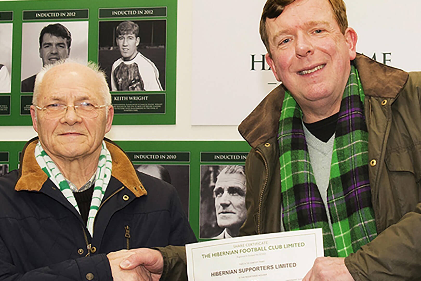 James Robertson Gifts his Hibernian Shares to HSL