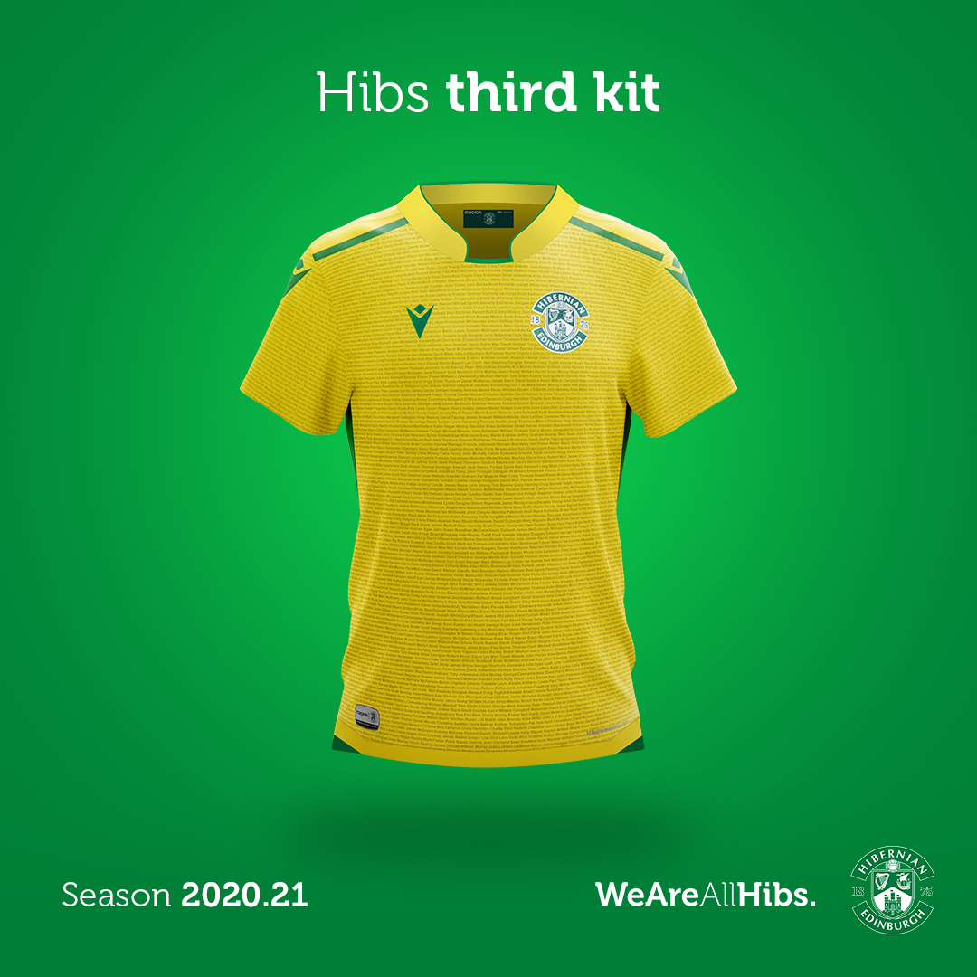 Hibernian Supporters Third Kit Launched